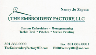 The Embroidery Factory Custom Embroidery and Monogramming